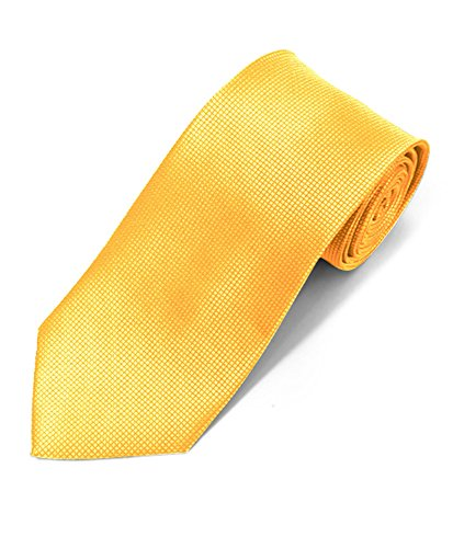 Silky Feel Solid Micro Woven Tie (Lt Yellow)