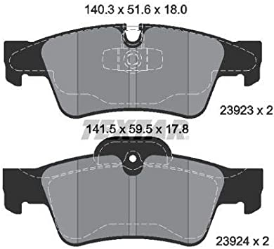 Textar 2392301 Bremsbelagsatz Scheibenbremse Auto