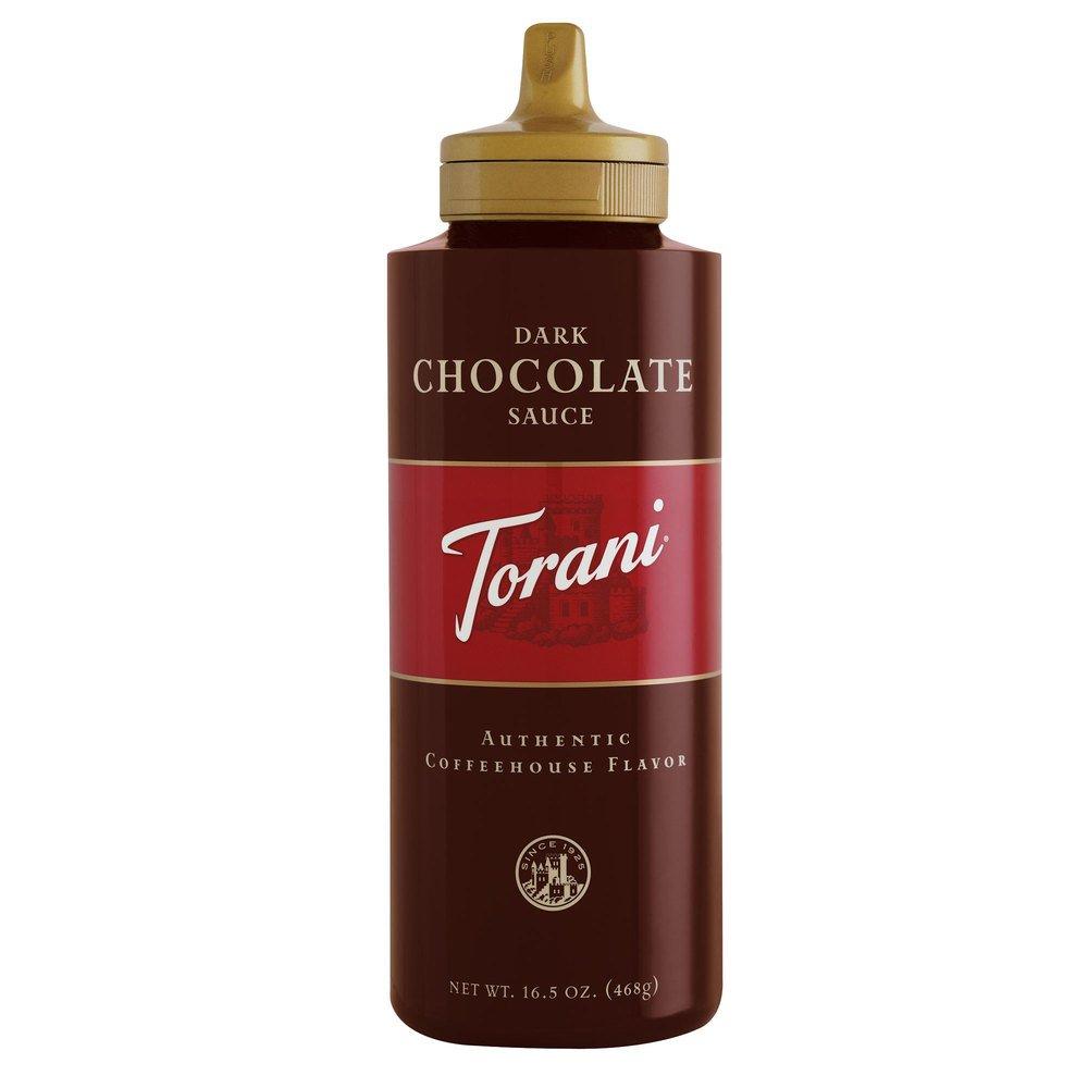 Torani Dark Chocolate Sauce, 16.5-ounce Squeeze Bottles (Pack of 6)