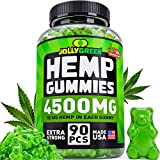 Hemp Oil Gummies 4500MG - 50 MG Each Gummy - Superstrong & USA Made - 100% Natural & Safe Hemp Extract - Tasty Hemp Gummies for Pain, Stress & Anxiety Relief - Sleep & Mood Support - Rich in Omega 3.