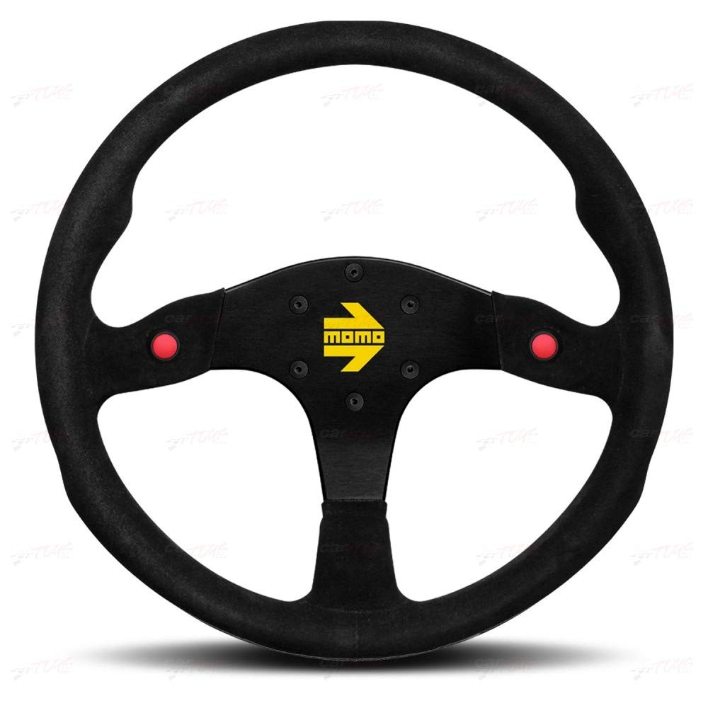 Momo R1980//35S Steering Wheel MOD 80 Black Suede