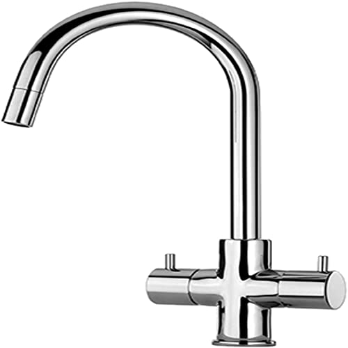 LaToscana 78PW491 Two Handle Pull-Down Kitchen Faucet, Brushed Nickel
