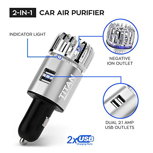 Titan Sales Co. Car Air Purifier by Ionizer