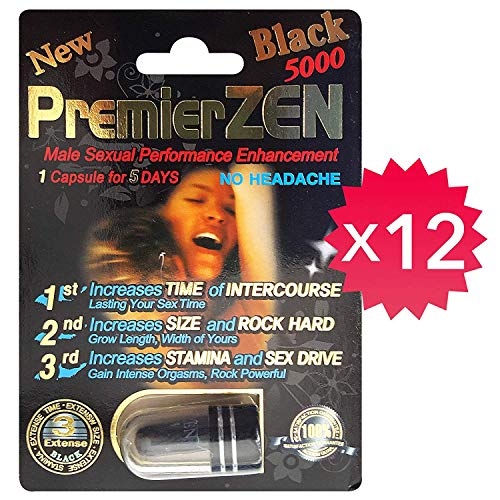 *Best Seller* PremierZEN Black 5000 Male Performance Enhancement Pill 100% Authentic. (12)