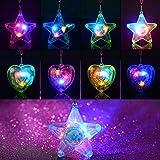 BAOQISHAN 8PCS Colorful LED Sparkle Plastic