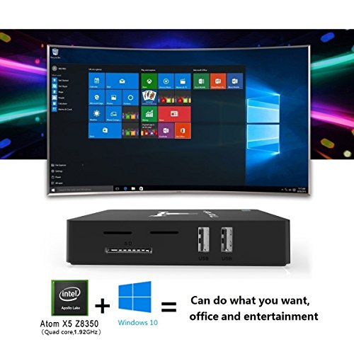 Mini PC Supprot Windows 10 - J-DEAL Portable Desktop Computer 2GB + 32GB, Intel Z8350 Atom CPU 64Bit, 4K UHD, Dual-Band WiFi 2.4G/5.8G, Ethernet 1000Mbps, Bluetooth 4.0, USB 3.0, Desktop Media Streami by J-Deal (Image #5)