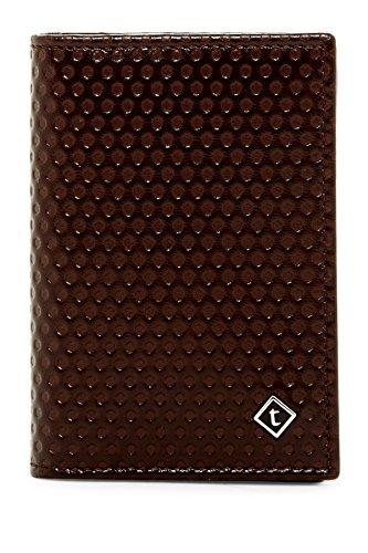 a.testoni Men's Nido Ape Calf Leather Business Card Case Wallet, OS, Moro Dark Brown by a.testoni