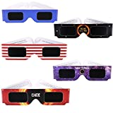 EXTRA VALUE PACKS & MORE SAVING: Entire set includes Group pairs of solar eclipse glasses. We added more value to our customers but keep at competitive price. 2017 GALAXY AMERICAN FLAG EDITION: This special design is very unique and cool....