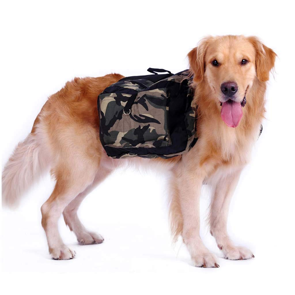 Dog Saddle bag Dog Harness Backpack Waterproof Tactical Breathable Pet Chest Strap Durable for Traveling Hiking Camping, Large Size