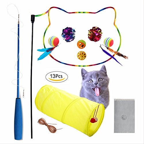 Cat Toy-Cat Toys,Cat teaser-Cat Exercise-Cat Tunnel-Pet Toy-Ball-Interactive-Variety Of Styles-Your Pet Won't Get Bored (Assorted)