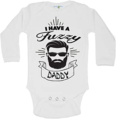 Funny Fuzzy Daddy Newborn Baby Onesie Cool baby Gerber Beard baby clothes