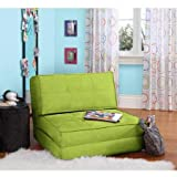 Space Saver Your Zone Flip Chair, Multiple Colors (Green Glaze)