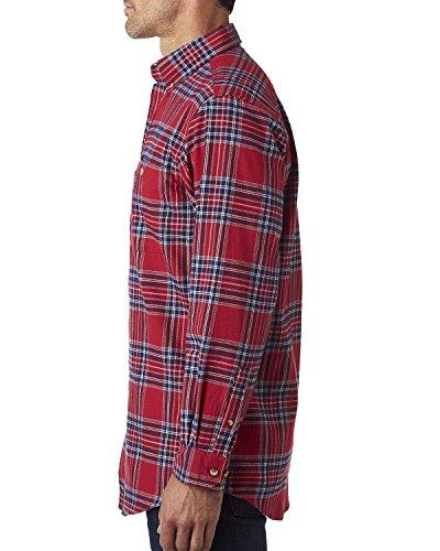 Mochilero Stuart Yarn Blue franela Dyed camisa SxHwUPaq