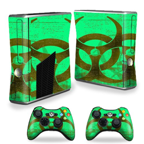 MightySkins Skin Compatible with X-Box 360 Xbox 360 S Console - Biohazard | Protective, Durable, and Unique Vinyl Decal wrap Cover | Easy to Apply, Remove, and Change Styles | Made in The USA