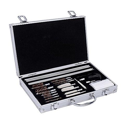 Ohuhu 28pcs Universal Hand Gun, Rifle & Shot Gun Cleaning Kit with Carrying Case (28 pcs) - Predator Cleaner