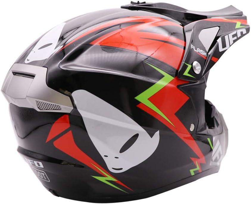 S Nero e Rosso Unisex Adulto Casco Moto Cross Kit Downhill Caschi Moto Offroad Enduro Sport con Fodera Rimovibile Red AMITD Casco da Motocross Set con Guanti//Occhiali//Face Mask