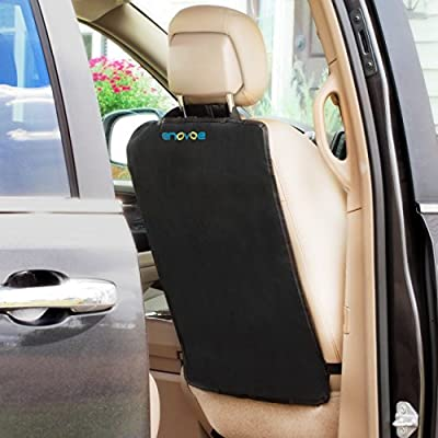 Enovoe Kick Mats - 2 Pack - Premium Quality Car Seat Protector Mat Best Waterproof Protection of Your Upholstery from Dirt, Mud, Scratches - Extra Large Car Seat Back Covers : Baby