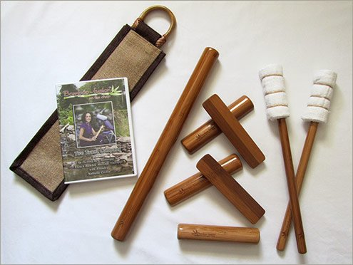 Bamboo-fusion Stick Set with Chair Version DVD