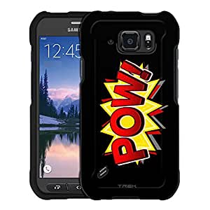 Samsung Galaxy S6 Active Case, Snap On Cover by Trek POW! Comic Book on Black Case