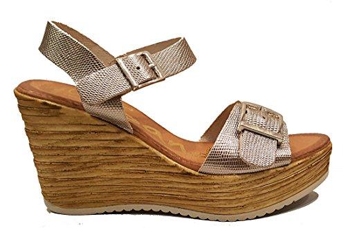 Oh my Sandals - Sandalia de cuña - Piel - Color Cava - 3671