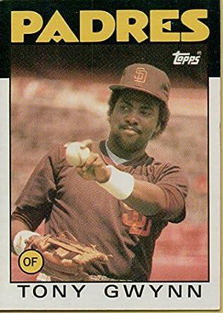 Tony Gwynn Baseball Card 1986 Topps Baseball Card 10 San