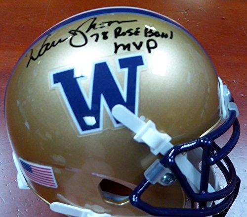 Warren Moon Autographed Washington Huskies Mini Helmet