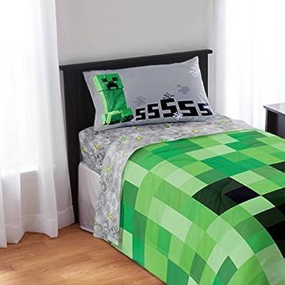 Kids Minecraft Twin Bedding Sheet Set (Twin)