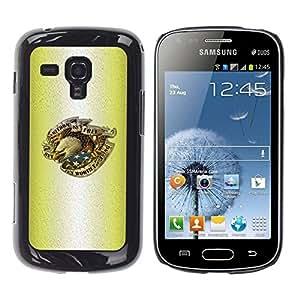Caucho caso de Shell duro de la cubierta de accesorios de protección BY RAYDREAMMM - Samsung Galaxy S Duos S7562 - Tattoo Ink Eagle Patriot Usa America