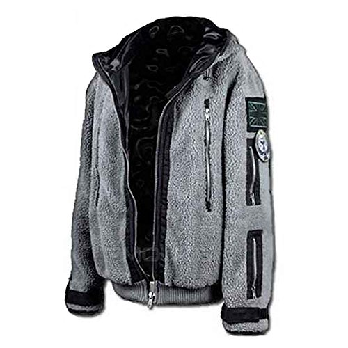 AOVEI Embroidered Ghost Jacket TF141 Tactical Outfit Zipper Sweater (Mw2 Ghost Costume)