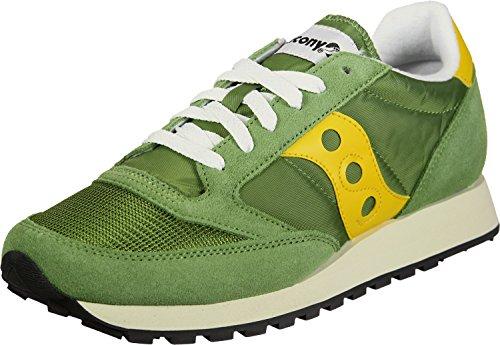 Saucony Herren Jazz Original Vintage Sneaker, Blau, 40 EU Green Yellow