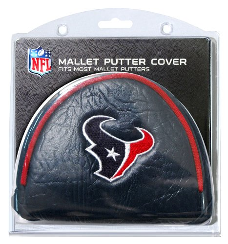Team Golf NFL Houston Texans Golf Club Mallet Putter Headcover, Fits Most Mallet Putters, Scotty Cameron, Daddy Long Legs, Taylormade, Odyssey, Titleist, Ping, Callaway