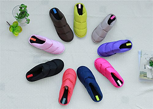 Crazy Shoes Cotton Cart Down Thick Padded Home Blue Interior bottomed Warm Couple Heavy Winter Non TPR Slippers slip Shoes rOrqAI
