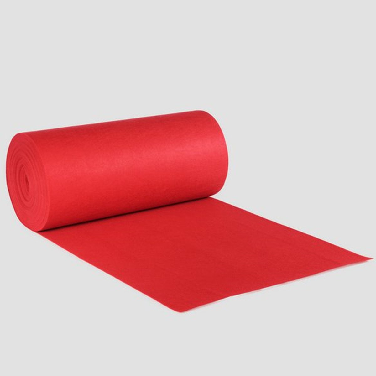 KOOCO Wedding Aisle Floor Runner Carpet Polyester Large Red Carpet Rug Hollywood Awards Events Wedding Party Events Decoration 10M/20M, Red, 10M