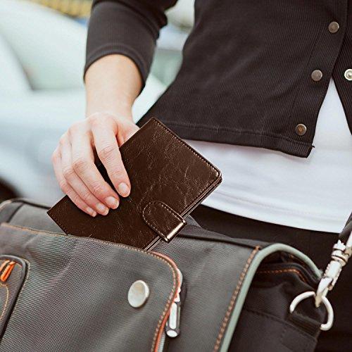 RFID Blocking Passport Holder (9 Slots), GreatShield Theft Proof Leather Wallet [5 Credit Card Slots | 3 Cash Compartments | 1 Passport Slot] for Men & Women – Brown by GreatShield (Image #3)