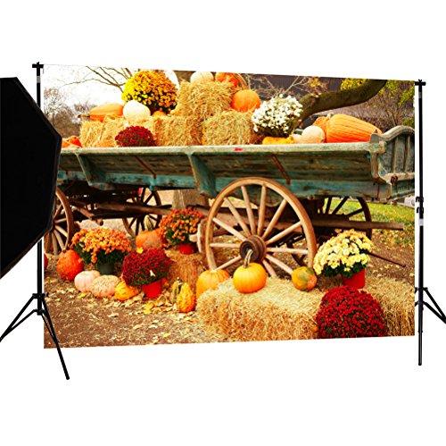 Custom Props For Halloween (DULUDA 7X5FT Halloween Pumpkin Pictorial cloth Backdrop photography Background studio prop for Christmas WXL39)