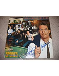 """* HUEY LEWIS & the NEWS * classic signed """"Sports"""" album cover by 5 / UACC Registered Dealer # 212"""