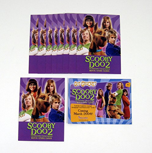 Lot of (10) 2004 Inkworks Scooby Doo 2 Monsters Unleashed Promo Card (P1) Nm/Mt (Scooby Doo 2 Monsters Unleashed Monsters Cards)