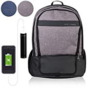 Diaper Bag Backpack With 16 Pockets! Phone Charger, Changing Pad, Stroller Straps & Insulated Bottle Pocket - Great For Mom, Dad, Travel (Grey)