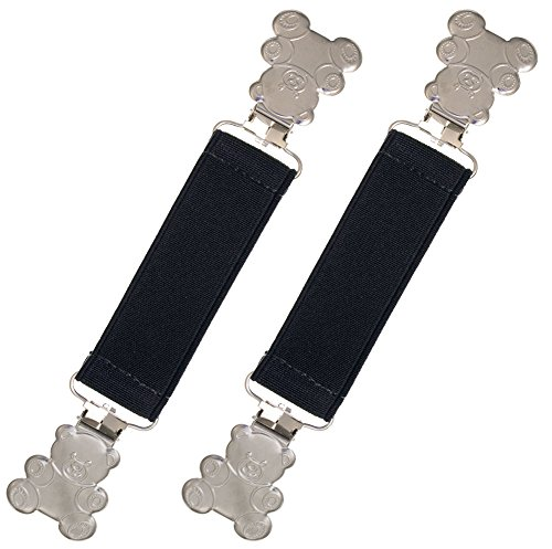 Extra Strong Elastic Teddy Bear Mitten and Glove Clips By Zelda Matilda - Premium Quality - Bright Colors and Super Tight Grip Best Winter Accessory - 90 Day Warranty (Navy-One Size)