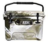 Epic Rotomolded Cooler Ice Chest - 20 Quart Marine Cooler Box in Dessert