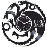 Mother Of Dragons, Daenerys Targaryen, Vinyl Wall Clock Game Of Thrones, Kovides, Valentines Day Gift For Boy, Wall Clock Large, Vinyl Wall Clock Silent, Jon Snow, Vinyl Record, Best Gift For Her