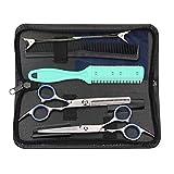 Hairdressing Scissors Kits Stainless Steel Hair Cutting Shears Set Thinning/Texturizing Scissors Bang Hair