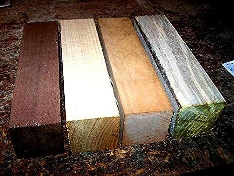 "4 Pack Black Walnut Lathe Turning Exotic Wood Bowl Blanks Blocks 2.5 x 2.5 x 6/"""