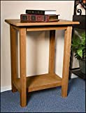 Maple Hardwood Credence Table for Church Santuary, 30 Inch (Pecan Stain)