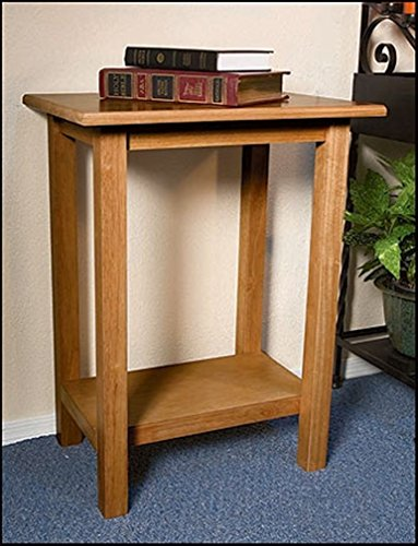 Maple Hardwood Credence Table for Church Santuary, 30 Inch (Pecan Stain) by Church Furniture