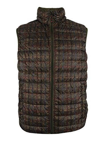 Hawke & Co. Outfitters Men's Reversible Packable Vest (S, Harris Tweed/Loden) (Hawke Co Outfitter)