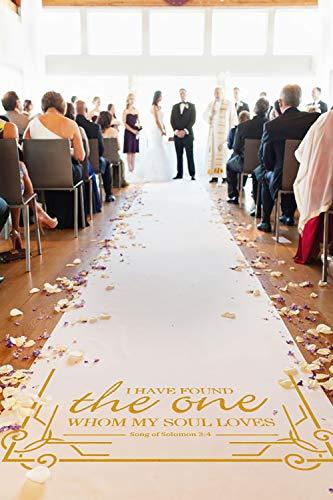 Healon Wedding Decor Aisle Runners for Weddings Outdoor Accessories Runner Rug 100 x 3 ft Golden -