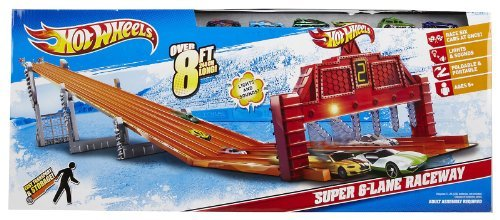 Hot Wheels Super 6-Lane Raceway