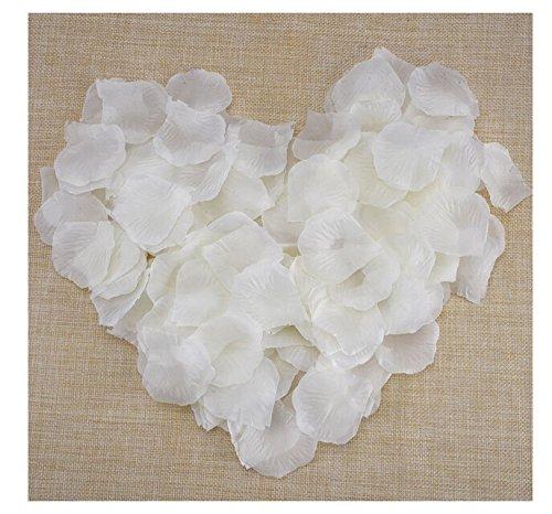 91 opinioni per JZK® 1000 x Bianco seta petali di rosa finti confetti decorazioni per