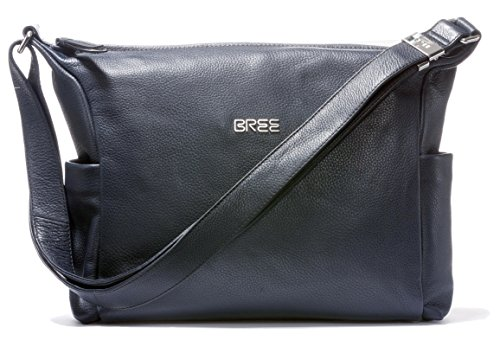 Bree Nola - Crossed Bag Smooth Leather Blue Womens